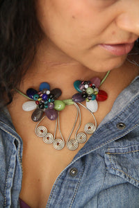 Flower power neck cuff