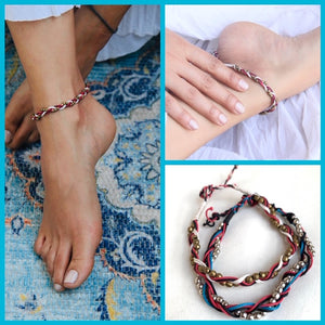 Anklet Handcrafted with Bead string