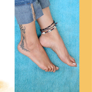 Handcrafted Cowrie Shell Anklet / Bracelet (1 piece)