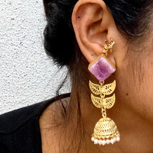 Indian Festive Jhumka purple