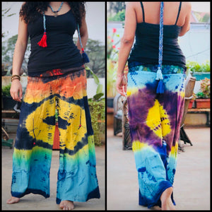Tie dye cotton pants