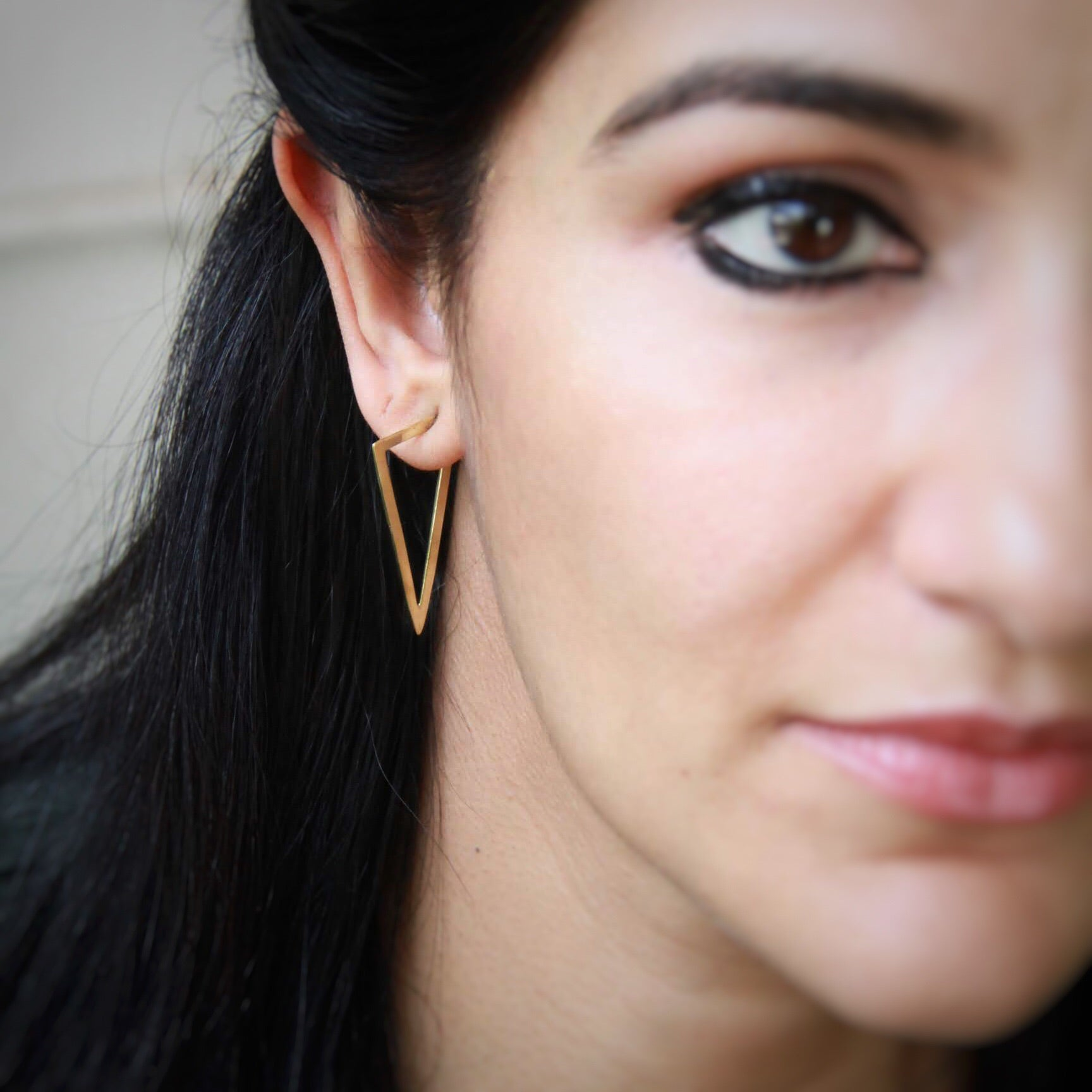 Minimalist Triangle Earrings