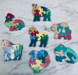 Wooden Puzzle Hand painted Toys