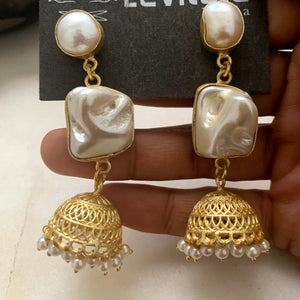 Indian Festive Jhumka (Pearl & Mother of Pear)