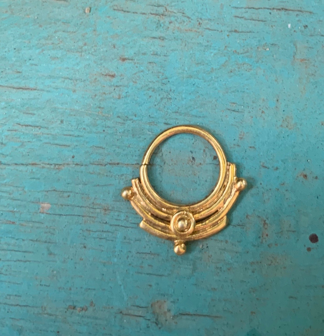 Silver Temple Nose Ring