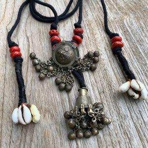 Vintage Bell Coral Bead Necklace