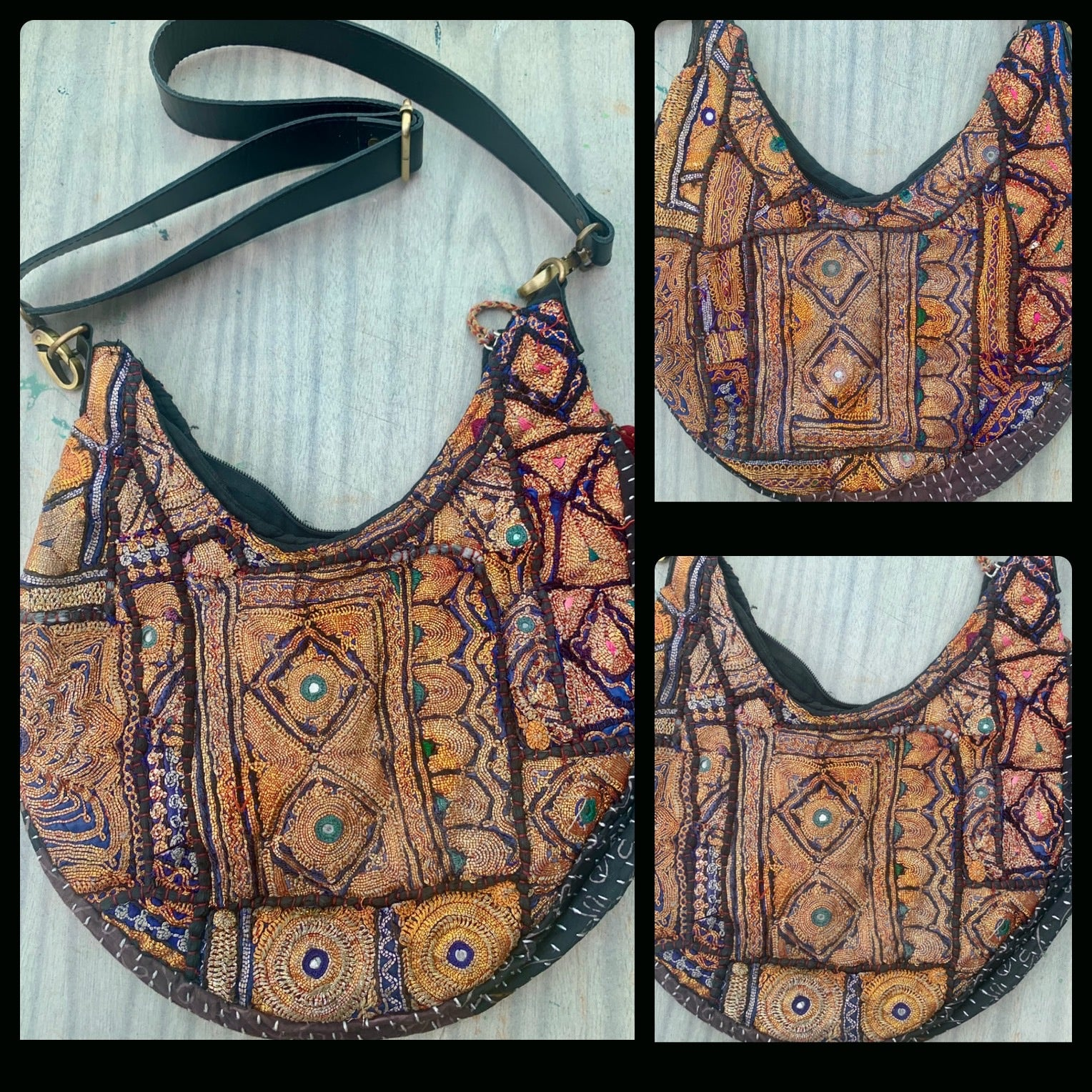 Cross Body Embroidery Sling Bag