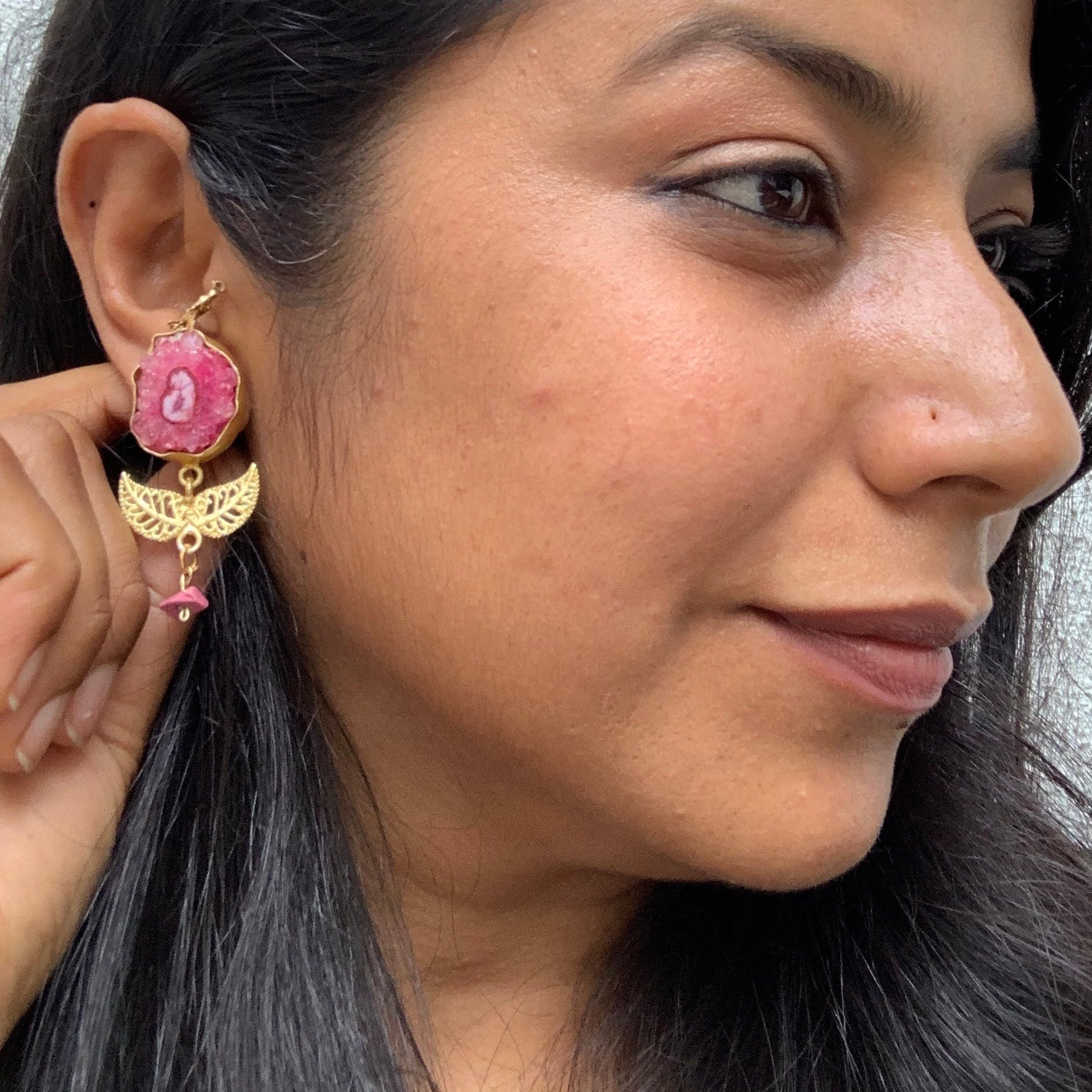 Indian Festive Druzy Earring