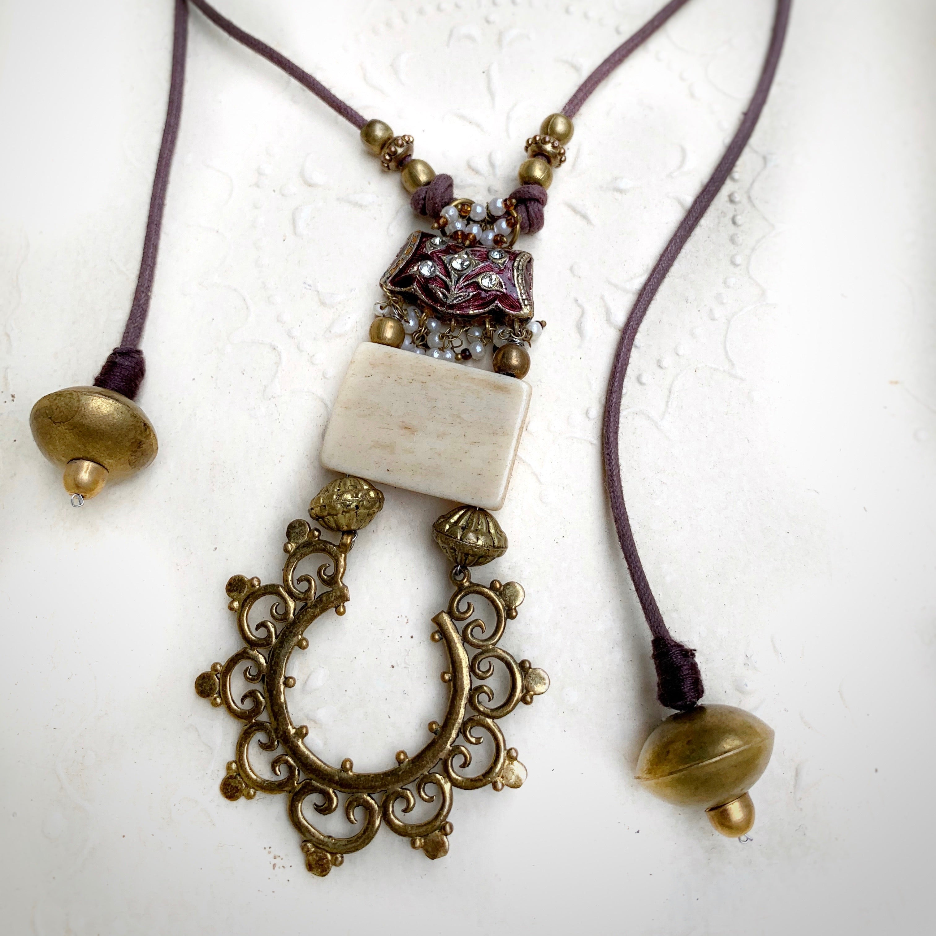 Desert Rain Mauve Necklace