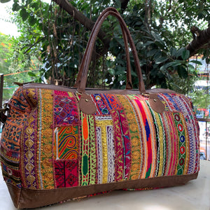 Vintage Embroidered Overnight Bag