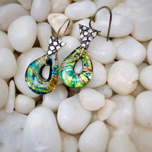 Glass Painted Earing