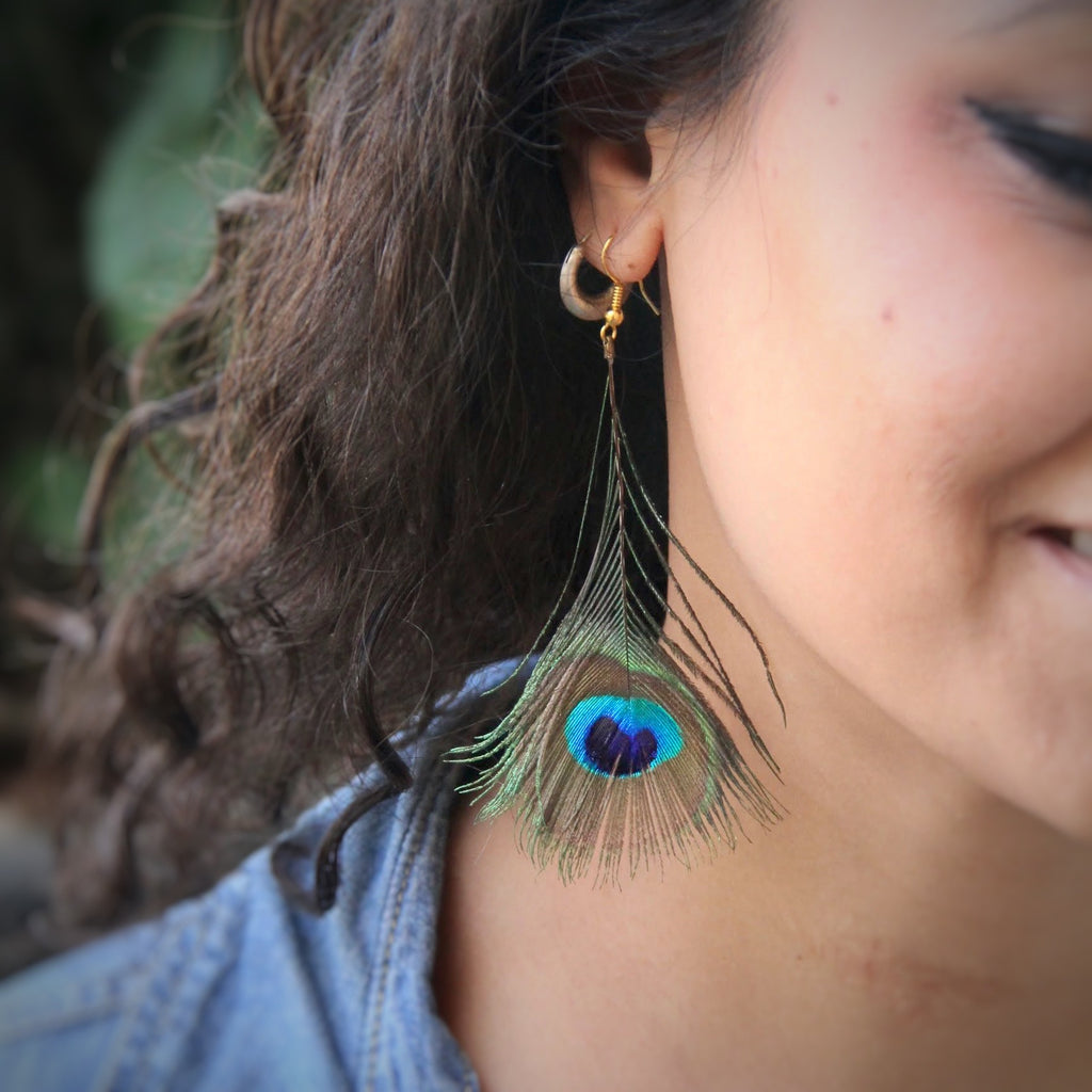 Peacock feather Earrings (S)