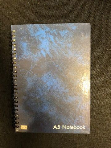 A5 NOTEBOOK BLUE - 72 SHEETS - FEINT RULED