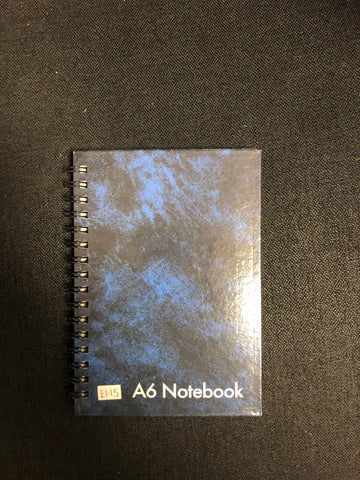 A6 NOTEBOOK BLUE/RED - 72 SHEETS - FEINT RULED