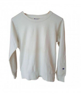 CHAMPION CREWNECK BASIC WHITE BONE
