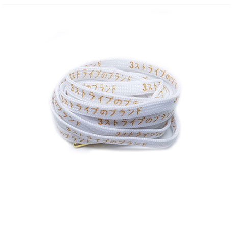 125CM JAPAN EDITION KATAKANA LACES WHITE GOLDIE
