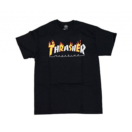 Thrasher Flame Mag S/S Tee Black