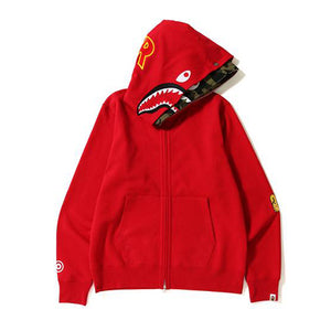 6b59316f7c80 2ND SHARK WIDE FULL ZIP DOUBLE HOODIE RED GREEN – KXStart.ID