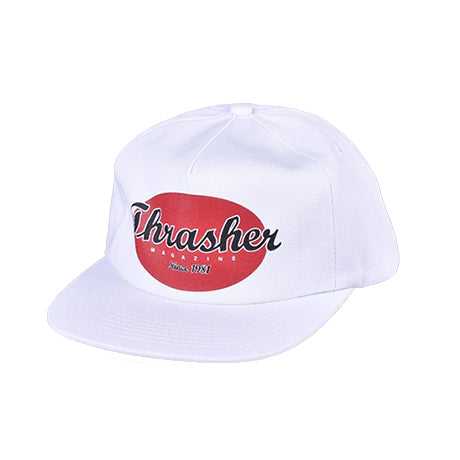 Thrasher Oval Snapback White