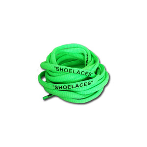 "125CM OVAL ""SHOELACES"" GREEN"