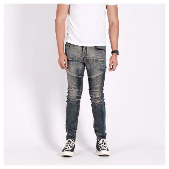 A1 BIKER DENIM DIRTY BLUE