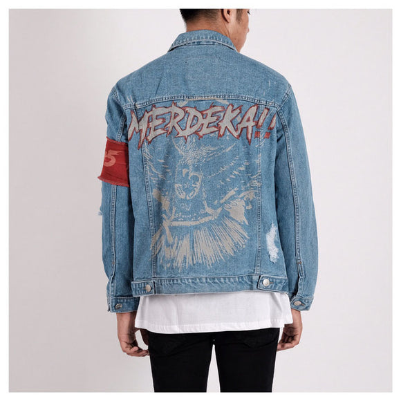 A1 DISTRESSED JACKET MERDEKA SNOW BLUE