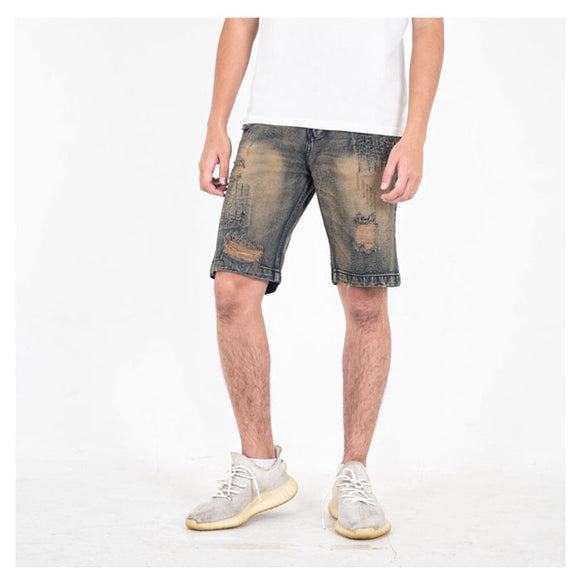 A1 DISTRESSED SHORT DIRTY BLUE