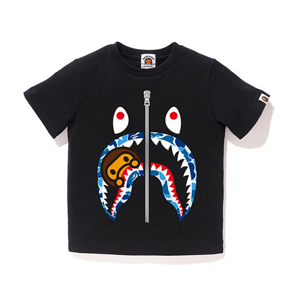 ABC MILO SHARK TEE KIDS BLACK BLUE