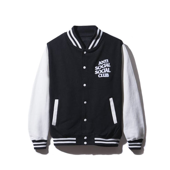 DROPOUT WHITE/BLACK LETTERMAN JACKET