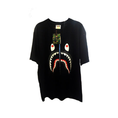 BAPE 1ST CAMO SHARK TEE BLACK GREY