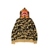 1ST CAMO TIGER FULL ZIP HOODIE MENS YELLOW