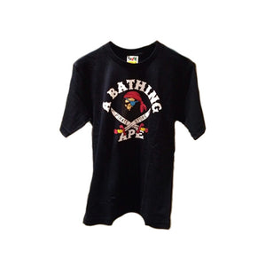 BAPE PIRATE STORE TEE BLACK WHITE