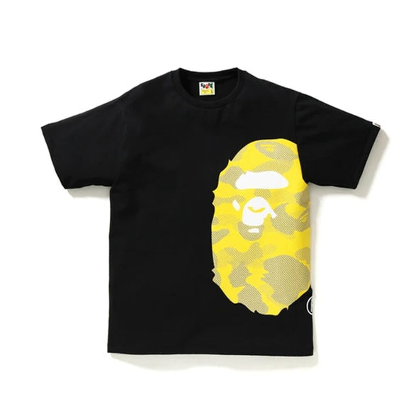 REFLECTION CAMO SIDE BIG APE HEAD TEE BLACK/YELLOW