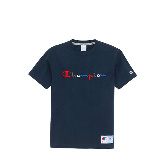 CHAMPION ACTION STYLE LOGO T-SHIRT NAVY
