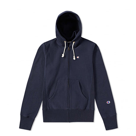 CHAMPION FULL ZIP HOODED SWEATSHIRT NAVY