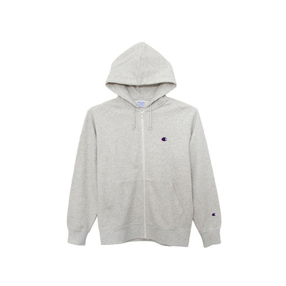 CHAMPION FULL ZIP HOODED SWEATSHIRT GREY