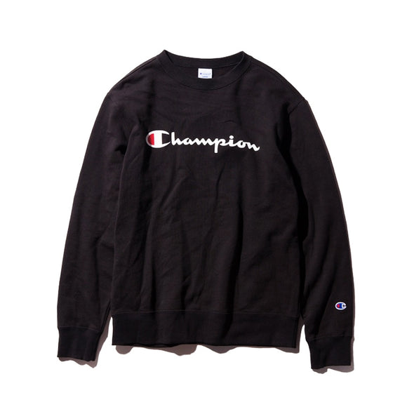 CHAMPION LOGO CREWNECK BLACK