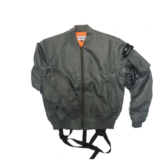 CHARAIX BOMBER JACKET DARK GREY