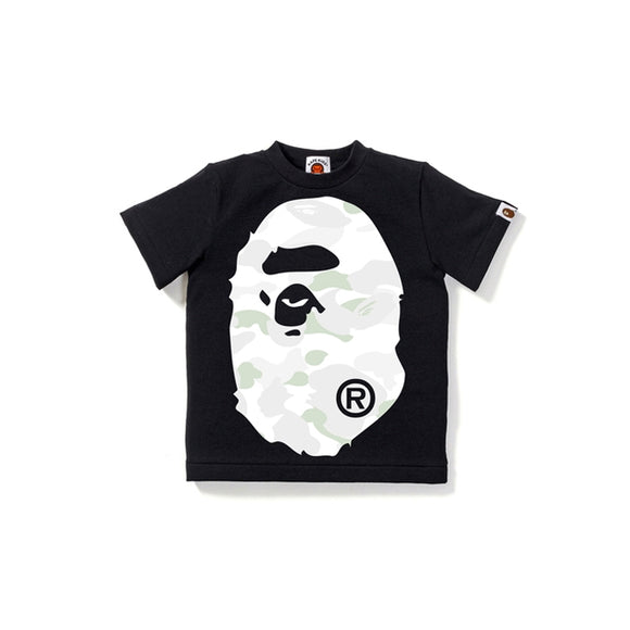 CITY CAMO BIG APE HEAD TEE KIDS BLACK WHITE (GLOW IN THE DARK)