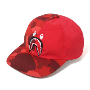 COLOR CAMO SHARK PANEL CAP RED