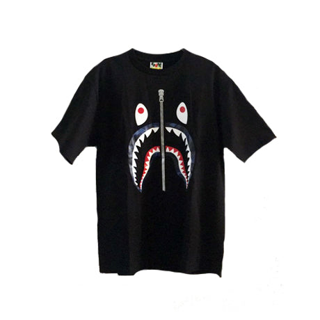 COLOR CAMO SHARK TEE BLACK BLUE