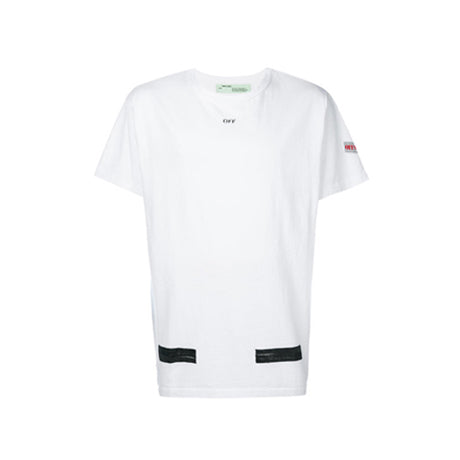 DIAG ARROW BRUSHED TEE WHITE