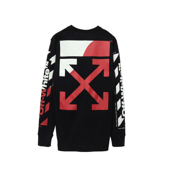 DIAG SPLIT LOGO OVER CREWNECK SS19 BLACK RED