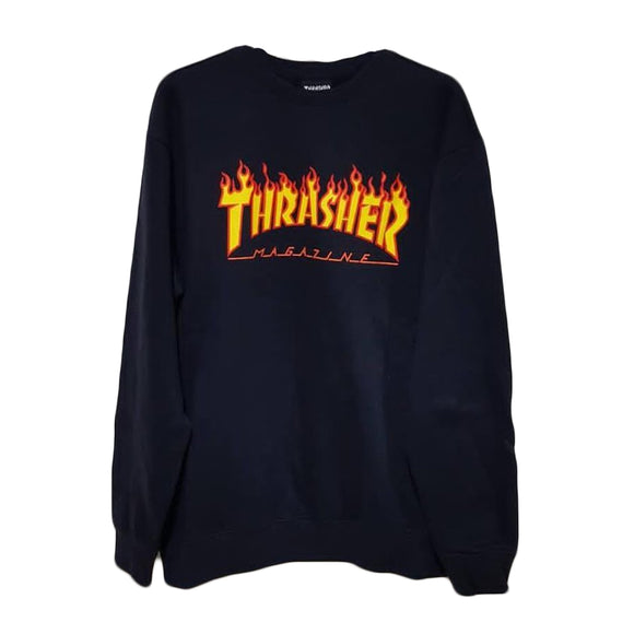 FLAME CREWNECK NAVY