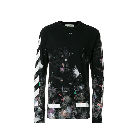 GALAXY BRUSHED LONG-SLEEVED TEE