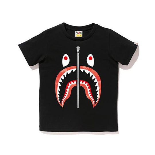 GRADATION CAMO SHARK TEE LADIES BLACK PINK