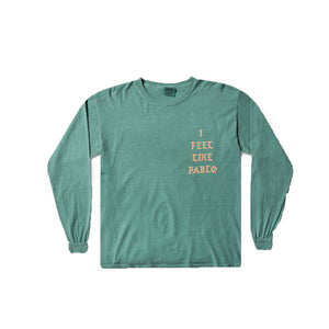 I FEEL LIKE PABLO-LONG SLEEVE-GREEN/ORANGE
