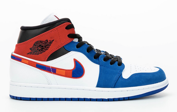 AIR JORDAN 1 MID MULTI-COLOR SWOOSH