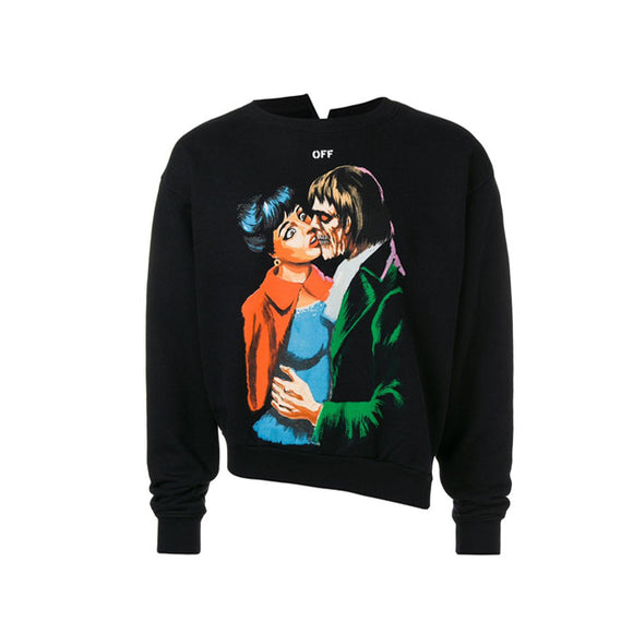 KISS SPLICED CREWNECK BLACK MULTICOLOR