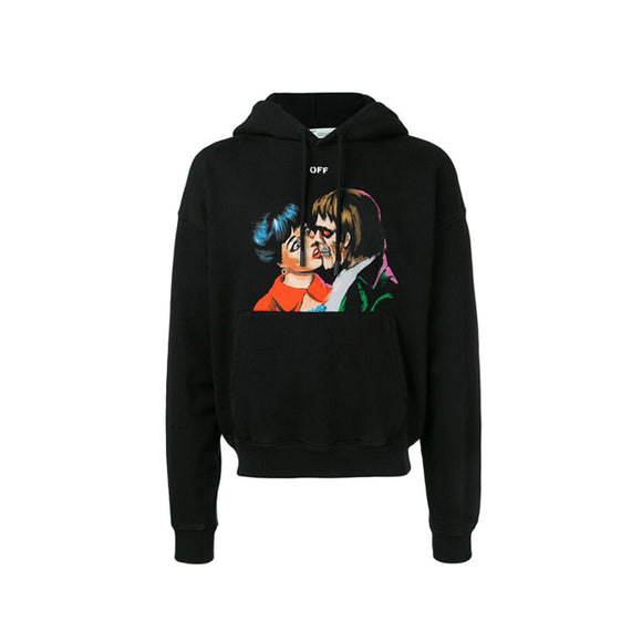 KISS OVER HOODIE BLACK MULTICOLOR